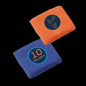 Polsini in spugna ADP Blu e arancio